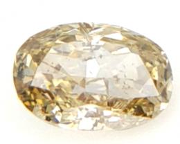 0.10 cts , Natural Champagne Diamond , Loose Diamond