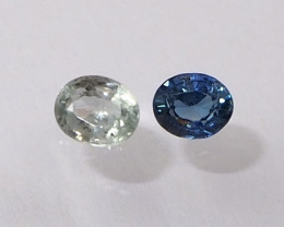 0.95ct unheated sapphire
