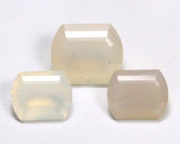 Moonstone 10.98Ct 3Pcs Natural Play Of White Color Moonstone Lot AB3635