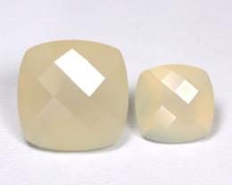 Moonstone 14.51Ct 2Pcs Natural Play Of White Color Moonstone Lot B3639