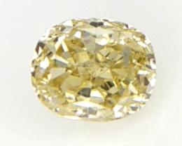0.13 cts , Yellow Color Diamond , Oval Brilliant Cut