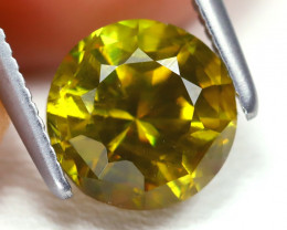 Sphene 1.82Ct VS2 Round Cut Natural Vivid Green Color Sphene AB3585