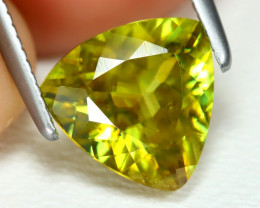 Sphene 1.60Ct VS Trillion Cut Natural Vivid Green Color Sphene B3587