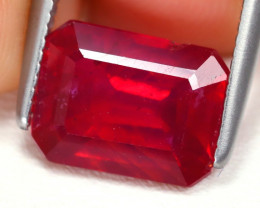 Red Ruby 3.12Ct Octogon Cut Pigeon Blood Red Ruby B3609