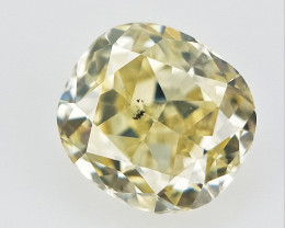 0.12 cts , Natural Color Diamond , Light Colored Diamond