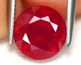 Red Ruby 2.89Ct Round Cut Pigeon Blood Red Ruby B3617