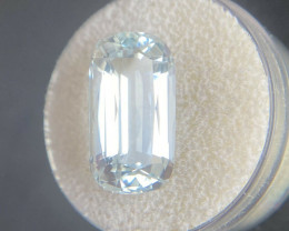 Fine Blue Aquamarine 7.35ct Cushion Cut TOP GRADE Rare Beryl Gemstone 16.9x