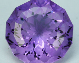~CUSTOM CUT~ 7.01Cts Natural Purple Amethyst Fancy Round Cut Bolivia