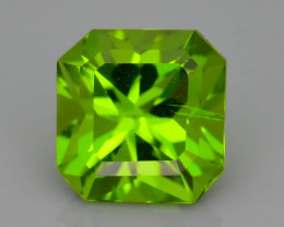AAA Peridot  3.71 ct Deep Green Color SKU.7