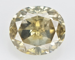 0.10 cts , Light Champagne Diamond , Oval Brilliant cut