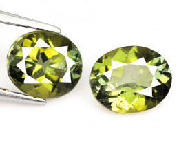 1.48 CTS 2 Pcs Fancy Natural Green Tourmaline