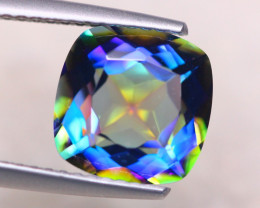 3.17ct Natural Mystic Topaz Cushion Cut Lot V8211