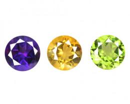 Fancy Gemstones 2.65 Cts 3 Pcs Mix Color Natural Gemstones