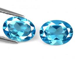 Blue Topaz 3.11 Cts 2 Pcs Natural Loose Gemstone