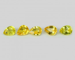 1.04 Cts 5 Pcs Amazing Rare Natural Fancy Yellow Sapphire Loose Gemstone