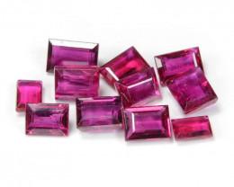 1.54 Cts 11 pcs Pinkish Red Natural Ruby BURMA  Loose Gemstone