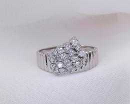 Diamond &  PLATINUM Ring  US Size 6