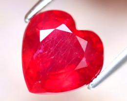 Ruby 3.48Ct Heart Shape Madagascar Blood Red Ruby EF0120/A20