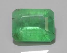 1.60 CTS STUNNING SUPER GREEN COLOUR 100% NATURAL EMERALD ZAMBIA!