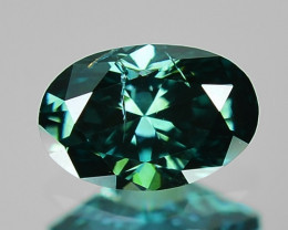 Peacok Green Diamond 0.29 Cts Sparkling Fancy Natural