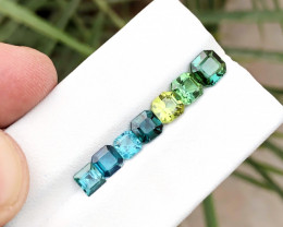4.50 Ct Natural Multi Colors Transparent Tourmaline Ring Size Gems Parcels