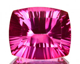 ~Beautiful ~ 6.60Cts Candy Pink Natural Topaz 12X10mm Cushion  Concave