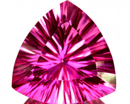 ~PRETTY~ 6.16 Cts Candy Pink Natural Topaz 12mm Concave Trillionr Cut Brazi