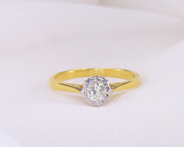 18kt Gold Diamond Solitaire US Size 6
