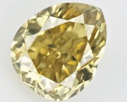 0.14 cts , Light Yellow Colored Diamond , Natural Cut Diamond