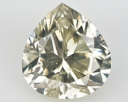0.15 cts , Pear Modified Brilliant Cut , Natural Color Diamond