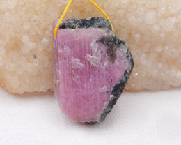 147ct Raw Ruby Pendant, Ruby bead, Ruby Slices, Rose Cut Slices H942