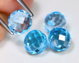 Swiss Topaz 9.62Ct Briolette Cut Natural Swiss Blue Topaz Lot AB3709