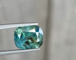 2.89ct unheated certified teal sapphire