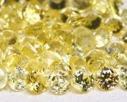 2.14Ct Calibrate 1.7mm Round Natural Ceylon Yellow Sapphire Lot AB3714