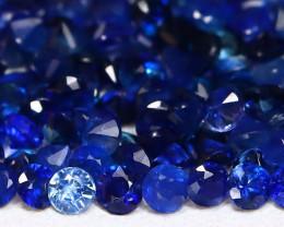 2.30Ct Calibrate 1.5mm Natural Vivid Blue Sapphire Round Lot AB3724