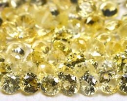 2.41Ct Calibrate 1.7mm Round Natural Ceylon Yellow Sapphire Lot B3757