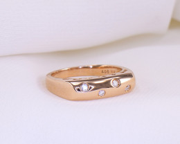 Minimalist Diamond 18kt Rose Gold Ring