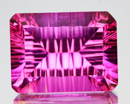 15.00Cts  Pink Natural Topaz Octagon 16 X 12mm Concave Cut Brazil