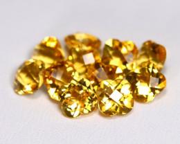 Citrine 7.61Ct 11Pcs Pixalated Cut Natural Golden Yellow Citrine B3770