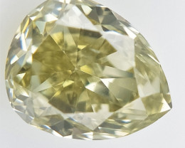 0.15 cts , Natural Yellow Diamond  , Teardrop Cut Diamond