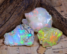 34.06Ct Bright Color Natural Ethiopian Welo Opal Rough B3725