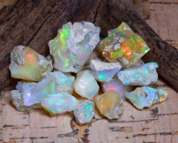 45.47Ct Bright Color Natural Ethiopian Welo Opal Rough B3727