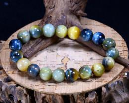 142.10Ct Natural Tiger Eye Beads Bracelet AB3714