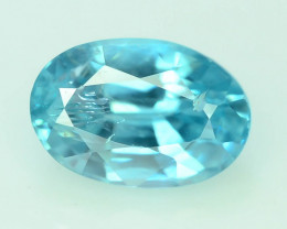 AAA Brilliance 1.10 ct Blue Zircon Cambodia ~K