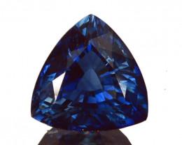 1.17 Cts Excellent Natural  Fine Blue Sapphire Madagascar Trillion  Gem