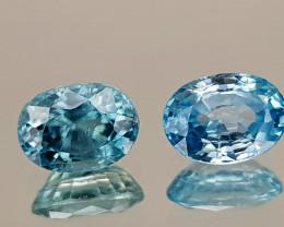 2.48Crt Blue Zircon Natural Gemstones JI30