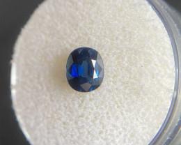 FINE Deep Blue Sapphire 0.95ct Oval Cut Loose Gem 6.3x5.3mm