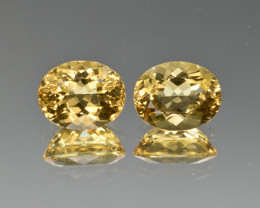 Natural Heliodor Pair 5.38 Cts
