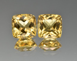 Natural Heliodor Pair 6.46 Cts