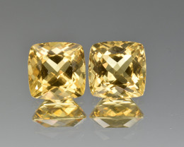 Natural Heliodor Pair 6.56 Cts